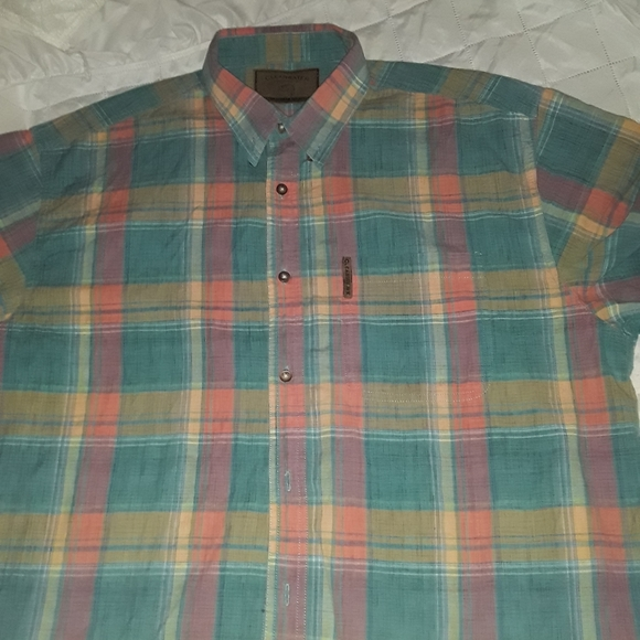 Clearwater outfitters Other - CLEARWATER pastel plaid XL short sleeve shirt